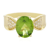 Anello in oro con Peridoto Arizona