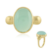 Anello in argento con Calcedonio Acqua (MONOSONO COLLECTION)