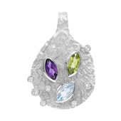 Ciondolo in argento con Peridoto (MONOSONO COLLECTION)