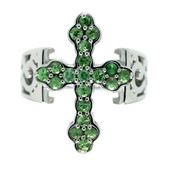 Anello in argento con Tsavorite (Dallas Prince Designs)