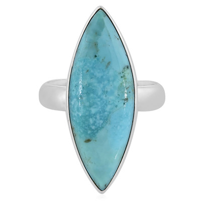 Anello in argento con Turchese Kingman Blu Mohave