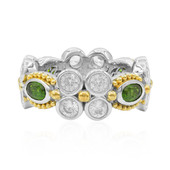 Anello in argento con Diopside Russo (Dallas Prince Designs)