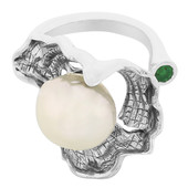 Anello in argento con Perla Ming (MONOSONO COLLECTION)