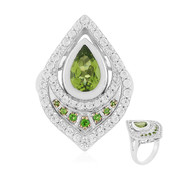Anello in argento con Peridoto (Memories by Vincent)