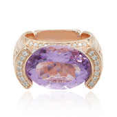 Anello in argento con Ametista Rose de France (Dallas Prince Designs)