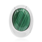 Ciondolo in argento con Malachite (MONOSONO COLLECTION)