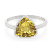 Anello in argento con Quarzo Champagne (MONOSONO COLLECTION)