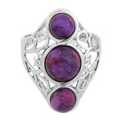 Anello in argento con Turchese Kingman Porpora Mohave