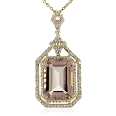 Collana in oro con Morganite del Madagascar AAA (de Melo)