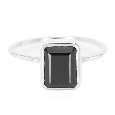 Anello in argento con Spinello Nero (MONOSONO COLLECTION)