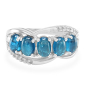 Anello in argento con Apatite Blu Royal