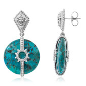 Orecchini in argento con Turchese (Dallas Prince Designs)