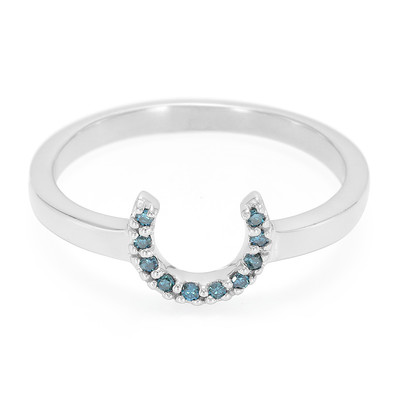 Anello in argento con Diamante Blu Royal