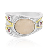 Anello in argento con Morganite (MONOSONO COLLECTION)