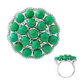 Anello in argento con Turchese Kingman Verde Mohave