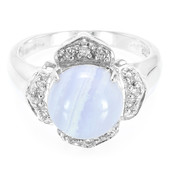 Anello in argento con Agata Blue Lace
