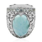 Anello in argento con Larimar (Dallas Prince Designs)
