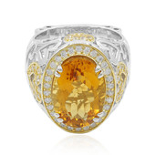 Anello in argento con Citrino Madeira (Dallas Prince Designs)