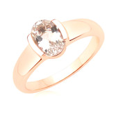 Anello in oro con Morganite Brasiliana AAA