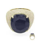 Anello in oro con Zaffiro Midnight Blue (de Melo)