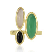 Anello in argento con Calcedonio Verde (MONOSONO COLLECTION)