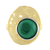Anello in argento con Malachite (MONOSONO COLLECTION)