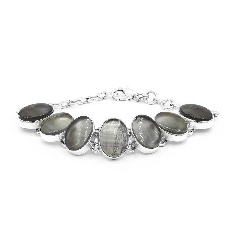 Bracciale in argento e fluorite