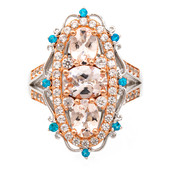 Anello in argento con Morganite (Dallas Prince Designs)