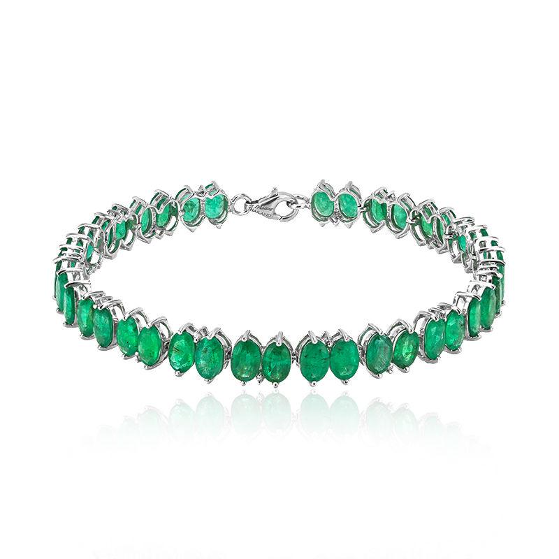 prezzo migliore i più votati più recenti in vendita online Bracciale in argento con Smeraldo Zambia (Molloy)-4520XZ ...