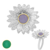 Anello in argento con Giada (MONOSONO COLLECTION)