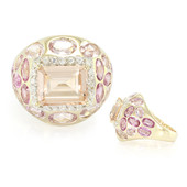 Anello in oro con Morganite Pesca AAA (Annette)
