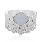 Anello in argento con Agata Blue Lace (MONOSONO COLLECTION)