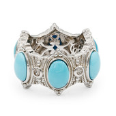 Anello in argento con Turchese (Dallas Prince Designs)