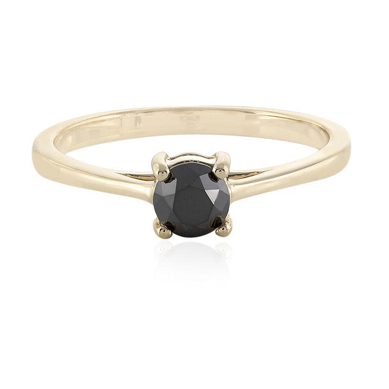 il prezzo rimane stabile estetica di lusso a poco prezzo Anello in oro con Diamante Nero-7009NK | Gioielli Juwelo