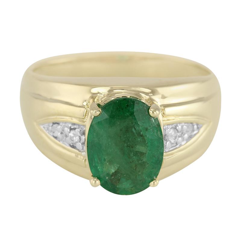 anello da uomo con smeraldo