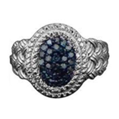Anello in argento con Diamante Blu