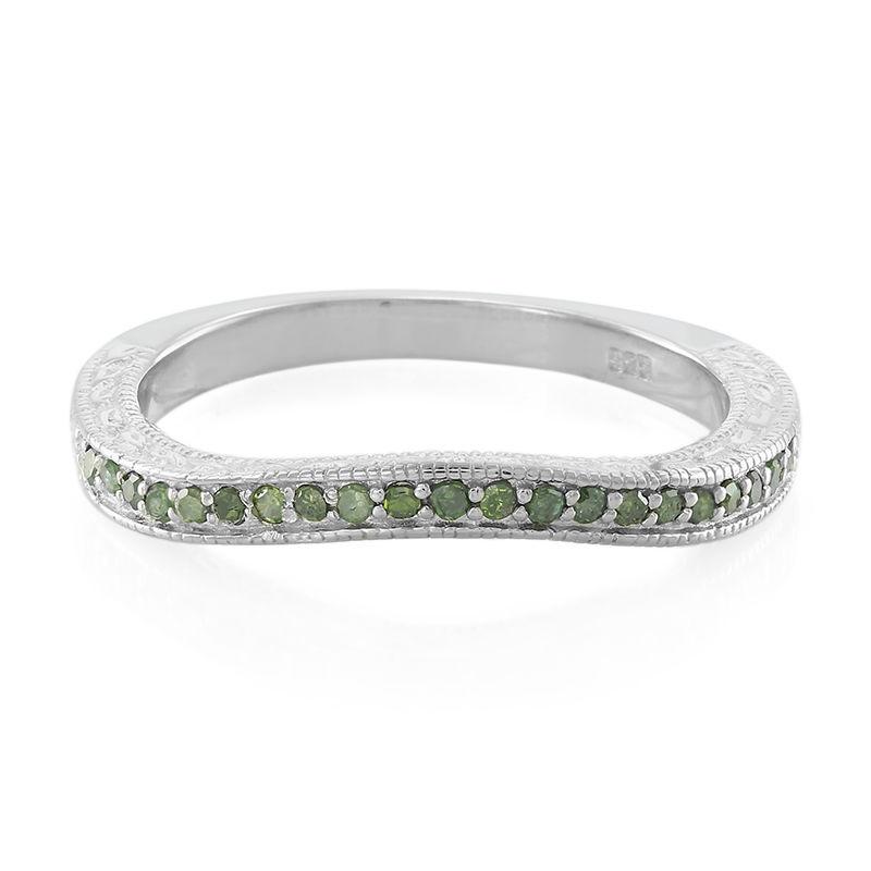 le meilleur clair et distinctif super pas cher Anello in argento con Diamante Verde Smeraldo