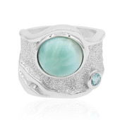 Anello in argento con Larimar (MONOSONO COLLECTION)