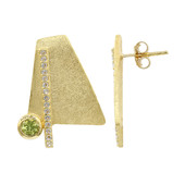 Orecchini in argento con Peridoto (MONOSONO COLLECTION)