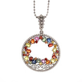 Collana in argento con Zaffiro Fancy (Dallas Prince Designs)