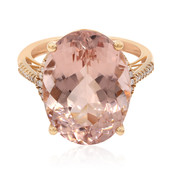 Anello in oro con Morganite