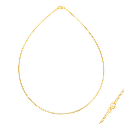 Collana OMEGA in argento 925 placcato oro giallo (MONOSONO COLLECTION)  - ca. 50 cm - ca. 8,2 g