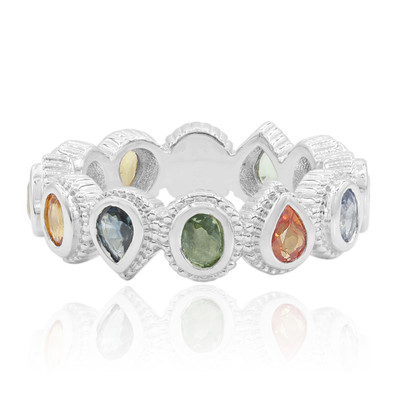 Anello in argento con Zaffiro Fancy (Dallas Prince Designs)