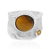 Anello in argento con Occhio di Tigre (MONOSONO COLLECTION)
