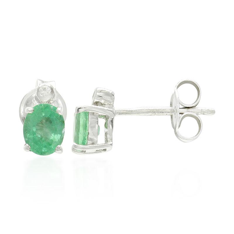 607a7d4905 Orecchini in argento con Smeraldo Bahia (Cavill)-5854RU   Gioielli ...
