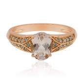 Anello in oro con Morganite (Annette)