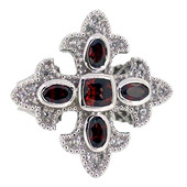 Anello in argento con Granato Mozambico (Dallas Prince Designs)
