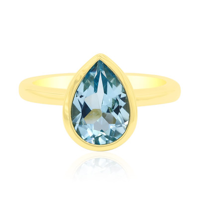 Anello in argento con Topazio Blu Cielo (MONOSONO COLLECTION)