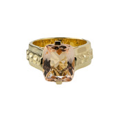 Anello in oro con Morganite AAA (de Melo)