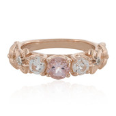 Anello in argento con Morganite